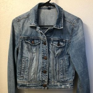 Women's Cropped Denim Jacket - M